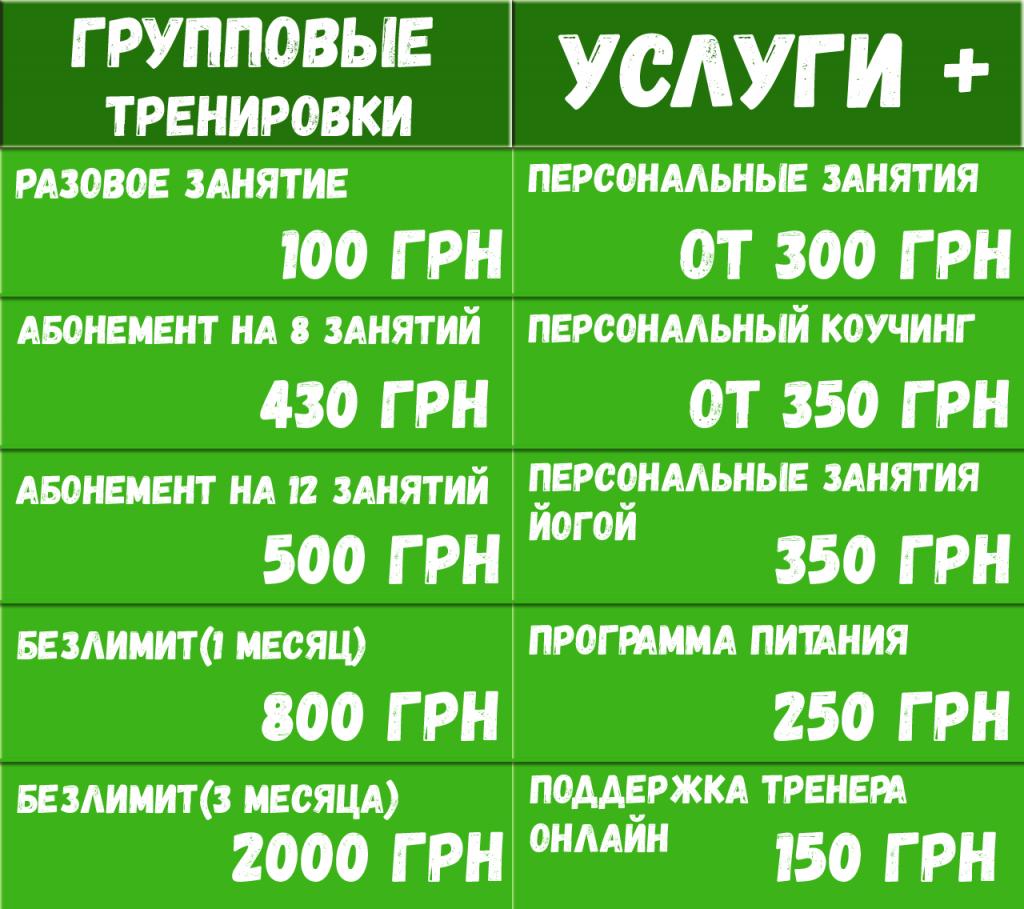 фитнес цена абонемента на месяц