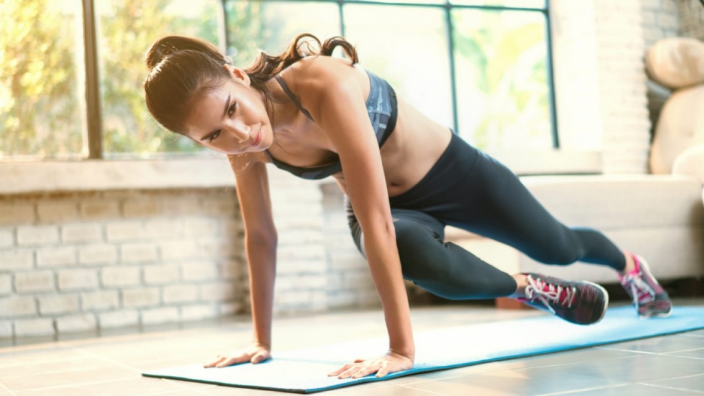 скалолаз упражнение для косых мышц живота